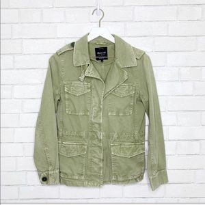 Madewell olive green military utility jacket